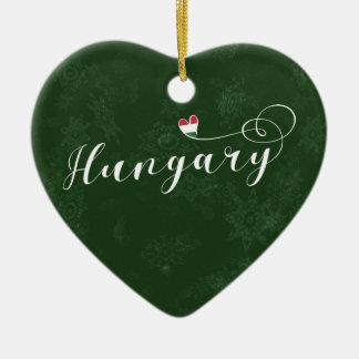 Coeur de la Hongrie, ornement d'arbre de Noël