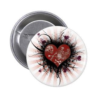 Coeur de la mort badge rond 5 cm