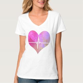 Coeur de l'aquarelle ECG T-shirt