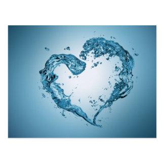 Coeur de l'eau - carte postale