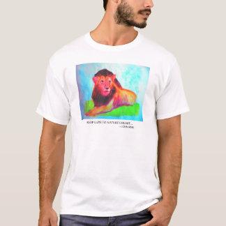 Coeur de lion - conservation John Muir d'animal T-shirt