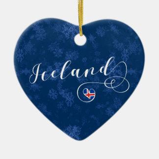 Coeur de l'Islande, ornement d'arbre de Noël