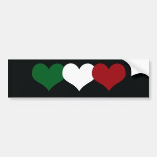 Coeur de l'Italie Autocollant Pour Voiture