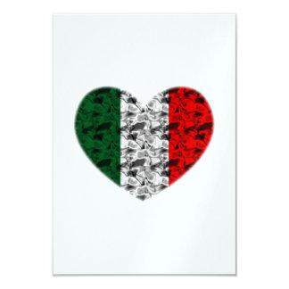 Coeur de l'Italie Carton D'invitation 8,89 Cm X 12,70 Cm