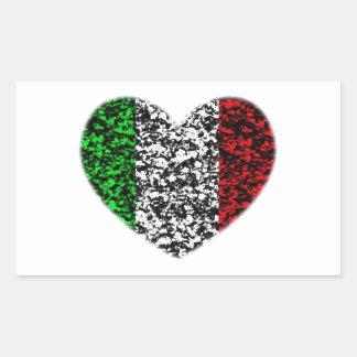 Coeur de l'Italie Sticker Rectangulaire