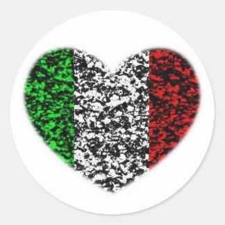 Coeur de l'Italie Sticker Rond
