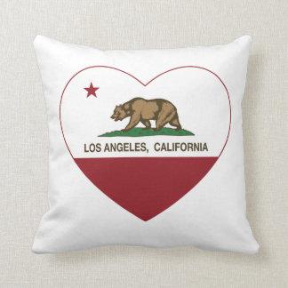 coeur de Los Angeles de drapeau de la Californie Oreiller
