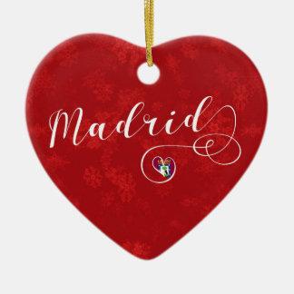 Coeur de Madrid, ornement d'arbre de Noël, Espagne