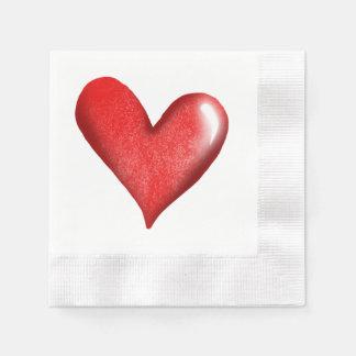 Coeur de mariage serviettes jetables