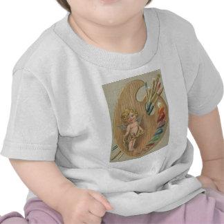 Coeur de palette de pinceau d'ange de cupidon t-shirt