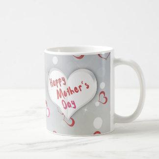 Coeur de papier plié du jour de mère - tasse