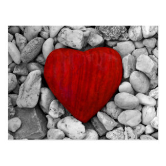 Coeur de pierre carte postale