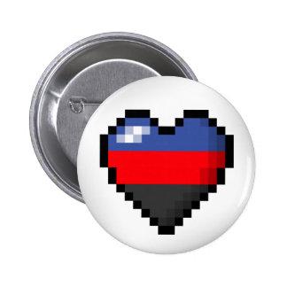 Coeur de pixel de Polyamorous Badges