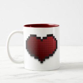 Coeur de pixel mugs