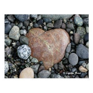Coeur de plage cartes postales