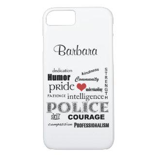 Coeur de police/conception Fierté-Rouges des Coque iPhone 7