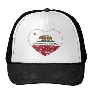coeur de Redwood Shores de drapeau de la Californi Casquettes De Camionneur