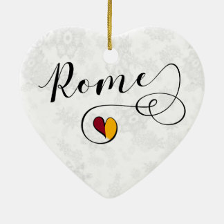 Coeur de Rome, ornement d'arbre de Noël, Italie