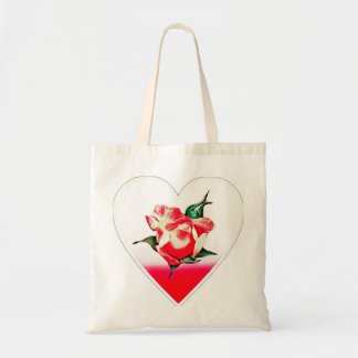 Coeur de Rosebud Sacs En Toile