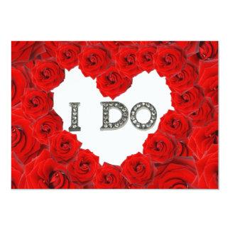 Coeur de roses rouges je fais le faire-part de