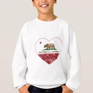 coeur de San Francisco de drapeau de la Californie Sweatshirt