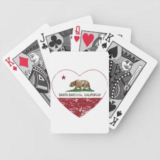 coeur de Santa Barbara de drapeau de la Californie Jeu De Cartes
