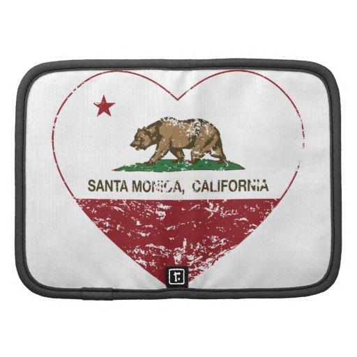 coeur de Santa Monica de drapeau de la Californie  Organiseur