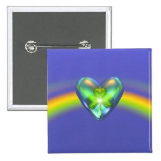 Coeur de shamrock de jour de St Patricks Badge