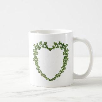 Coeur de shamrocks mug à café