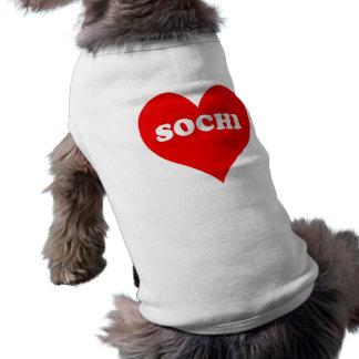 Coeur de Sotchi T-shirt Pour Chien
