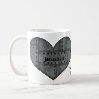 Coeur de Steampunk pour des amants Mug Blanc