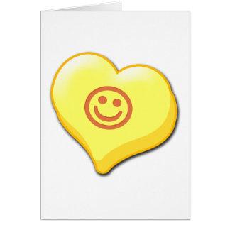 Coeur de sucrerie de sourire cartes