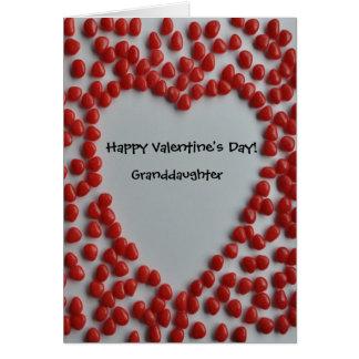coeur de sucrerie de valentine pour la carte de