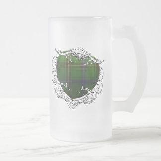 Coeur de tartan de Henderson Frosted Glass Beer Mug