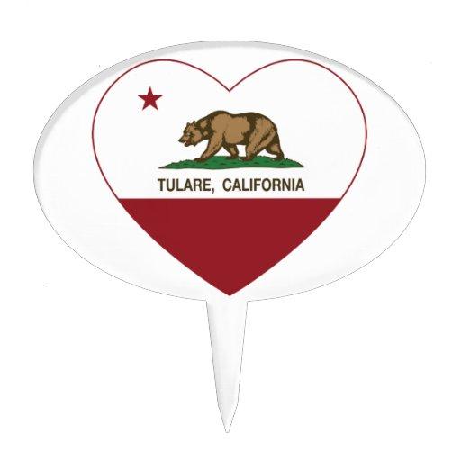 coeur de tulare de drapeau de la Californie Piques À Gâteau