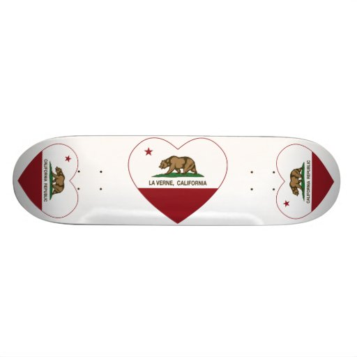coeur de verne de La de drapeau de la Californie Skateboards Personnalisés