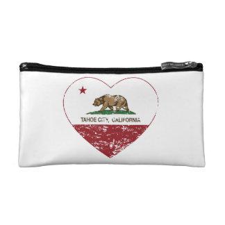 coeur de ville de tahoe de drapeau de la Californi Trousses De Toilette