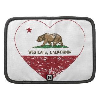 coeur de westlake de drapeau de la Californie affl Organiseur