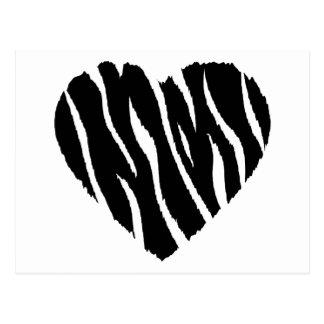 Coeur de zèbre carte postale