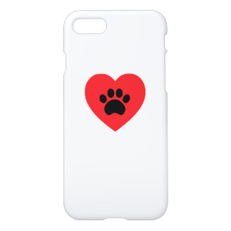 Coeur d'empreinte de patte coque iPhone 7