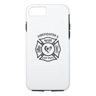 Coeur d'épouse de sapeurs-pompiers coque iPhone 7
