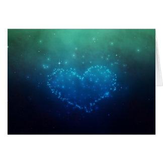 Coeur des étoiles - carte de voeux