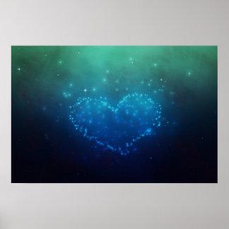 Coeur d'étoiles - copie de toile posters