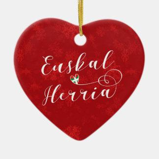 Coeur d'Euskal Herria, ornement d'arbre de Noël