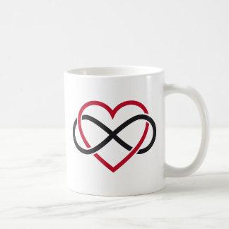 Coeur d'infini, amour interminable tasse à café