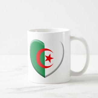 Coeur drapeau Algérie love Mug Blanc