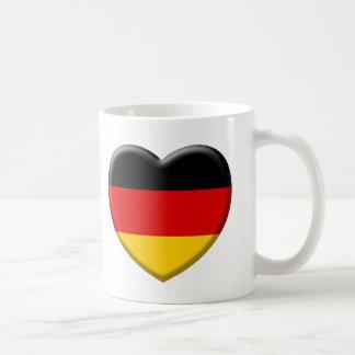 Coeur drapeau Allemand j'aime l'Allemagne Mug Blanc