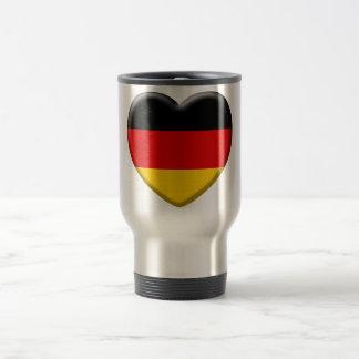 Coeur drapeau Allemand j'aime l'Allemagne Mug De Voyage