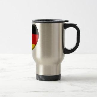 Coeur drapeau Allemand j'aime l'Allemagne Mug De Voyage En Acier Inoxydable