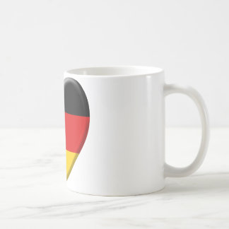 Coeur drapeau j'aime Allemagne Mug